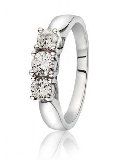 Diamantring 0,77 ct.