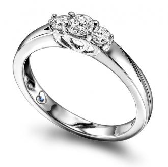 Diamantring 0,33 ct.