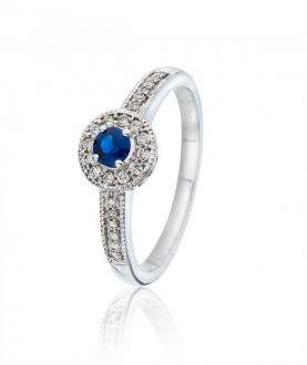 <p><b>Diamantring med safir - Gullsmedbutikken AS</b></p><p><strong>5 980 ,-</strong> </p>